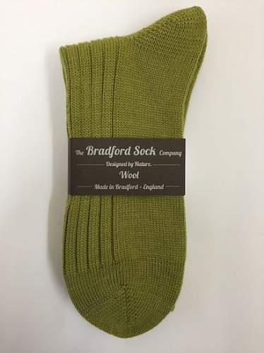 Green - Wool Socks - Hand or Silk Wash.